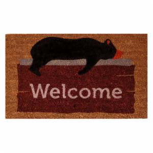 Home & More Lazy Bear Welcome Outdoor Doormat