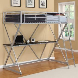 X Loft Bed - Silver