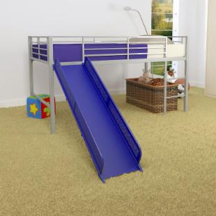 Junior Fantasy Loft with Slide - Silver