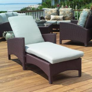 Anacara Atlantis All Weather Wicker Adjustable Chaise Lounge