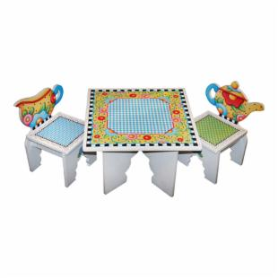 Anatex Mary Engelbreit Tea Time Table &amp; 2 Chairs