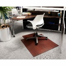  Dark Cherry 36 x 48 Bamboo Roll-Up Office Chair Mat