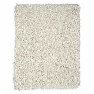 Ivory Bamboo Shag Area Rug