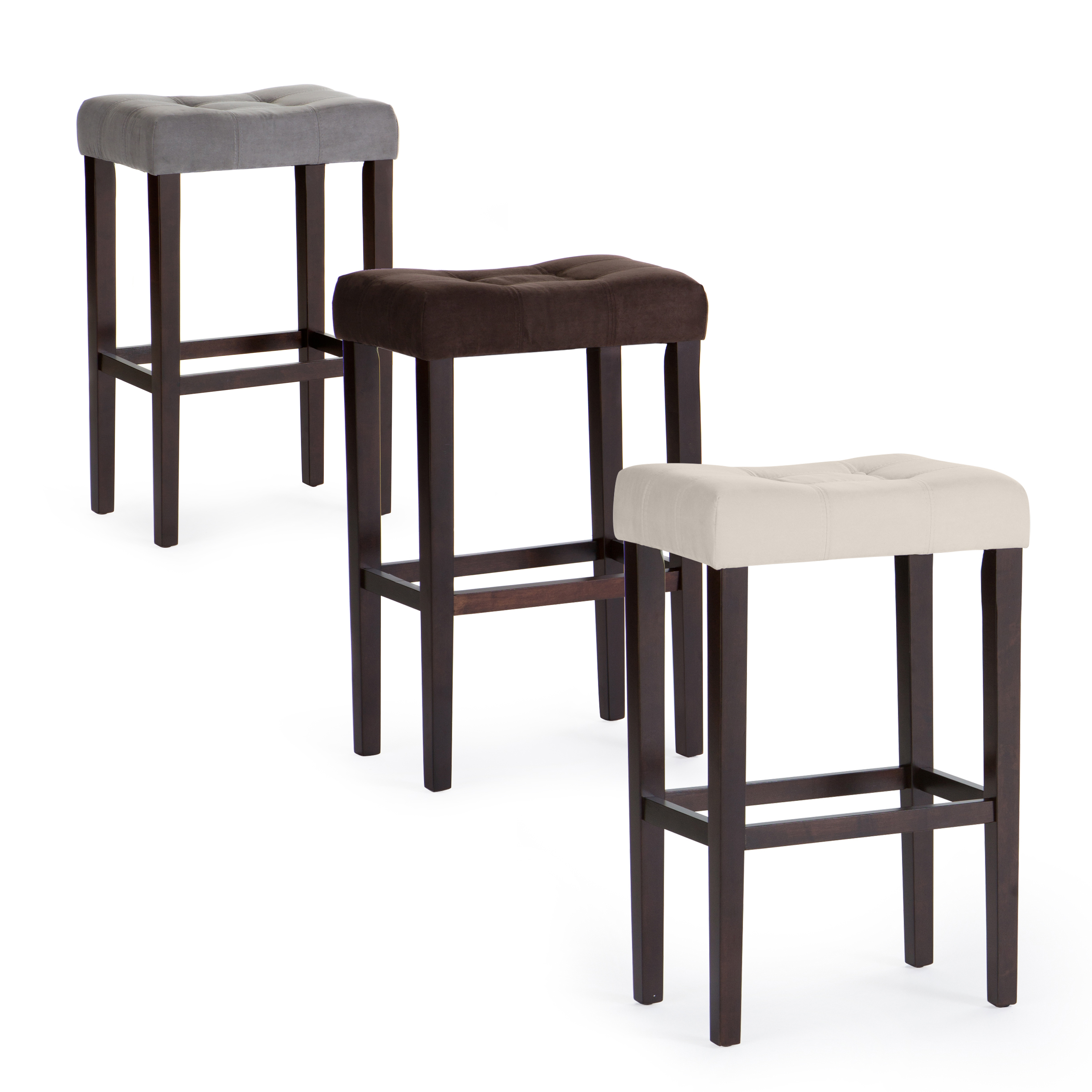 Palazzo 32 Inch Extra Tall Saddle Stool Bar Stools At