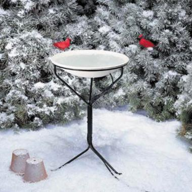  Allied Precision All Seasons Heated Bird Bath and Stand