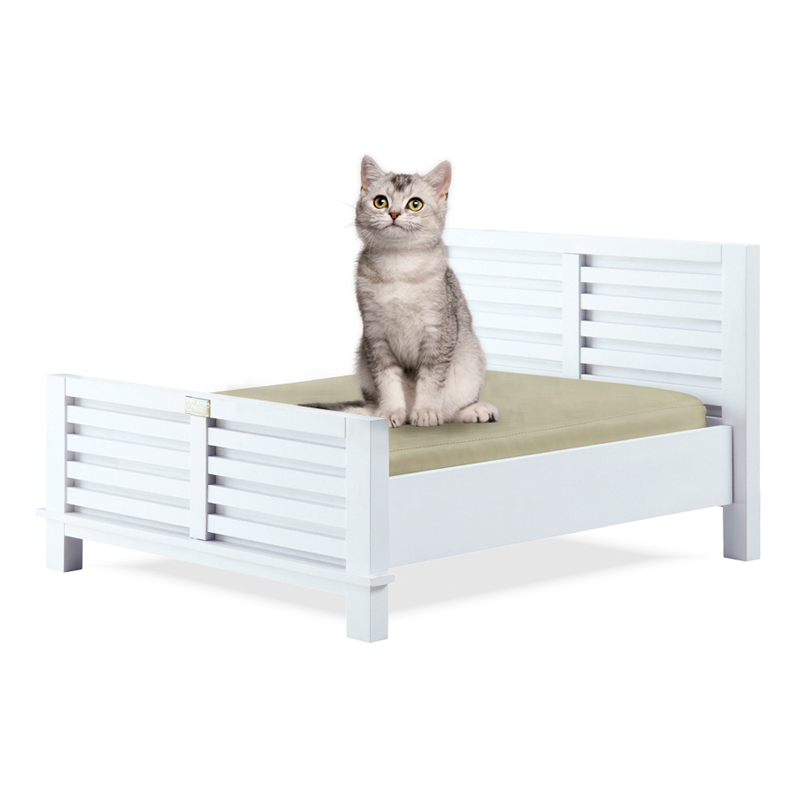 Classic Paws Dakota Furniture Style Pet Bed Collection White Finish At Hayneedle