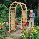  Arboria Victoria 7.25-ft. Cedar Arch Arbor