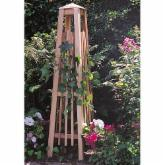  Manhattan 4.5-ft. Cedar Wood Obelisk Trellis