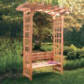  Arboria Astoria 7-ft. Cedar Pegola Arbor with Bench