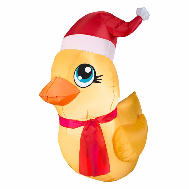 Gemmy Airblown Rubber Ducky Santa Inflatable ARET110-1
