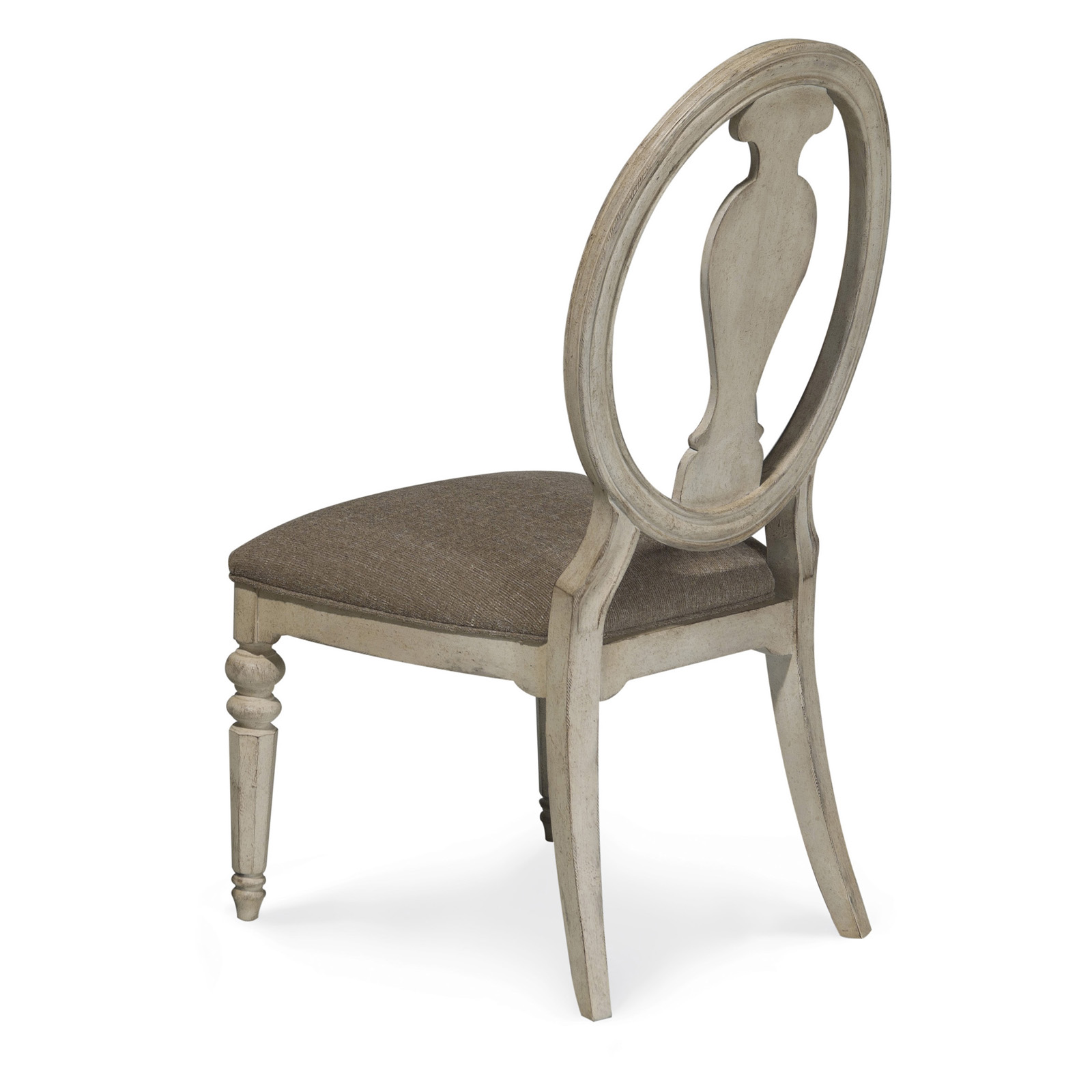 A r t furniture belmar ii oval splat back side chair for A r t dining chairs