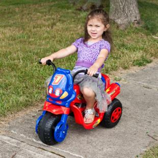 Lil Rider Lux 3 Wheel Bike Battery Operated Riding Toy - Red/Blue