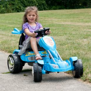 Lil Rider Blue Ice Battery Operated Go Kart Riding Toy