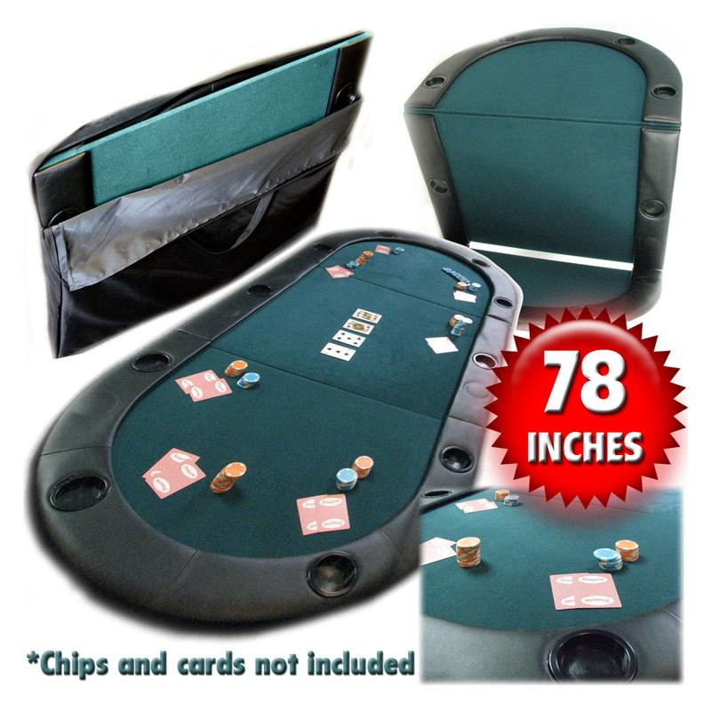 Texas Holdem Poker Folding Table Top with Cup Holders ASR2228-1