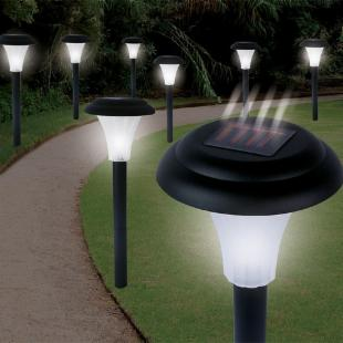 Trademark Tools Set of 8 Bright Solar Accent Lights - Cordless