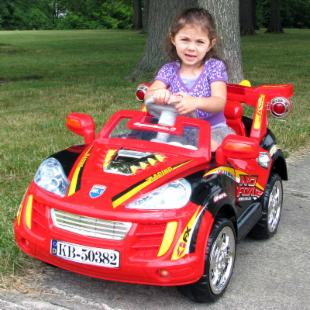 Lil Rider Battery Powered Sports Car with Remote - Black/Red