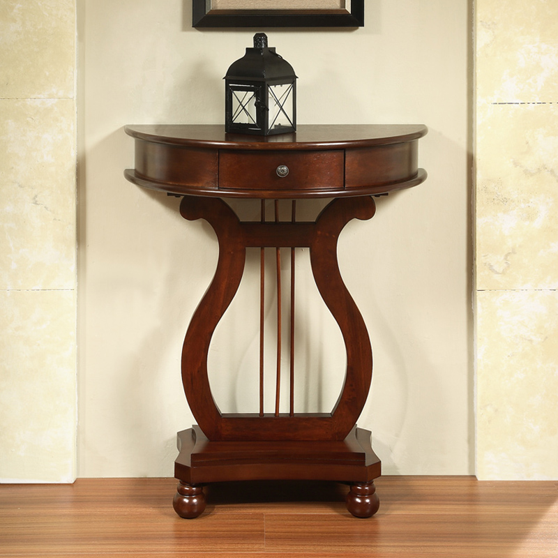 All Things Cedar Half Moon Harp End Table End Tables At