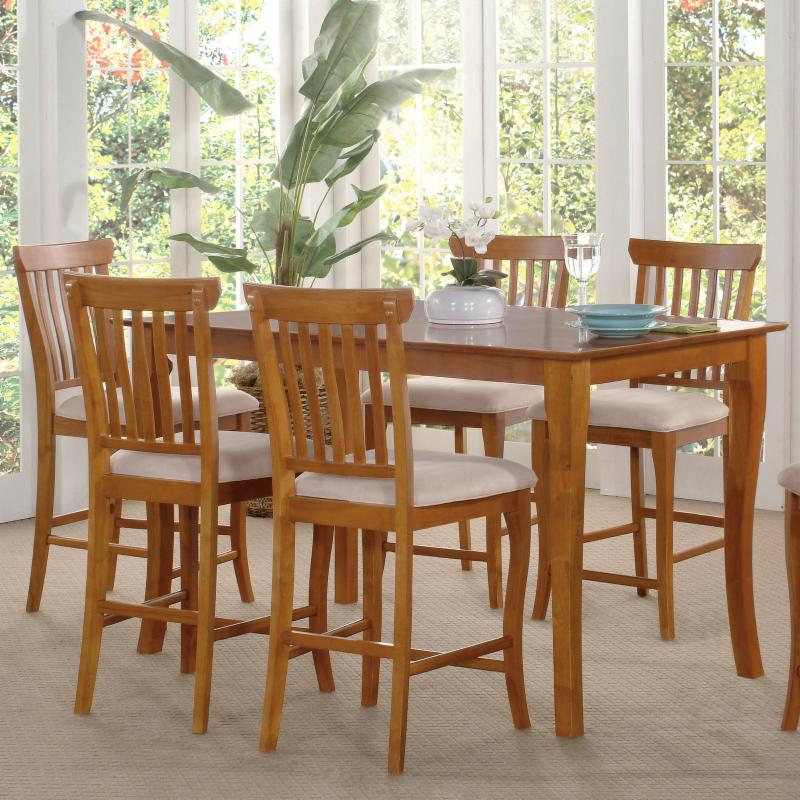 Venetian 7-Piece Counter Height Table Set