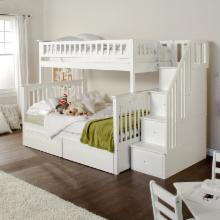  Columbia Twin over Full Stairway Bunk Bed