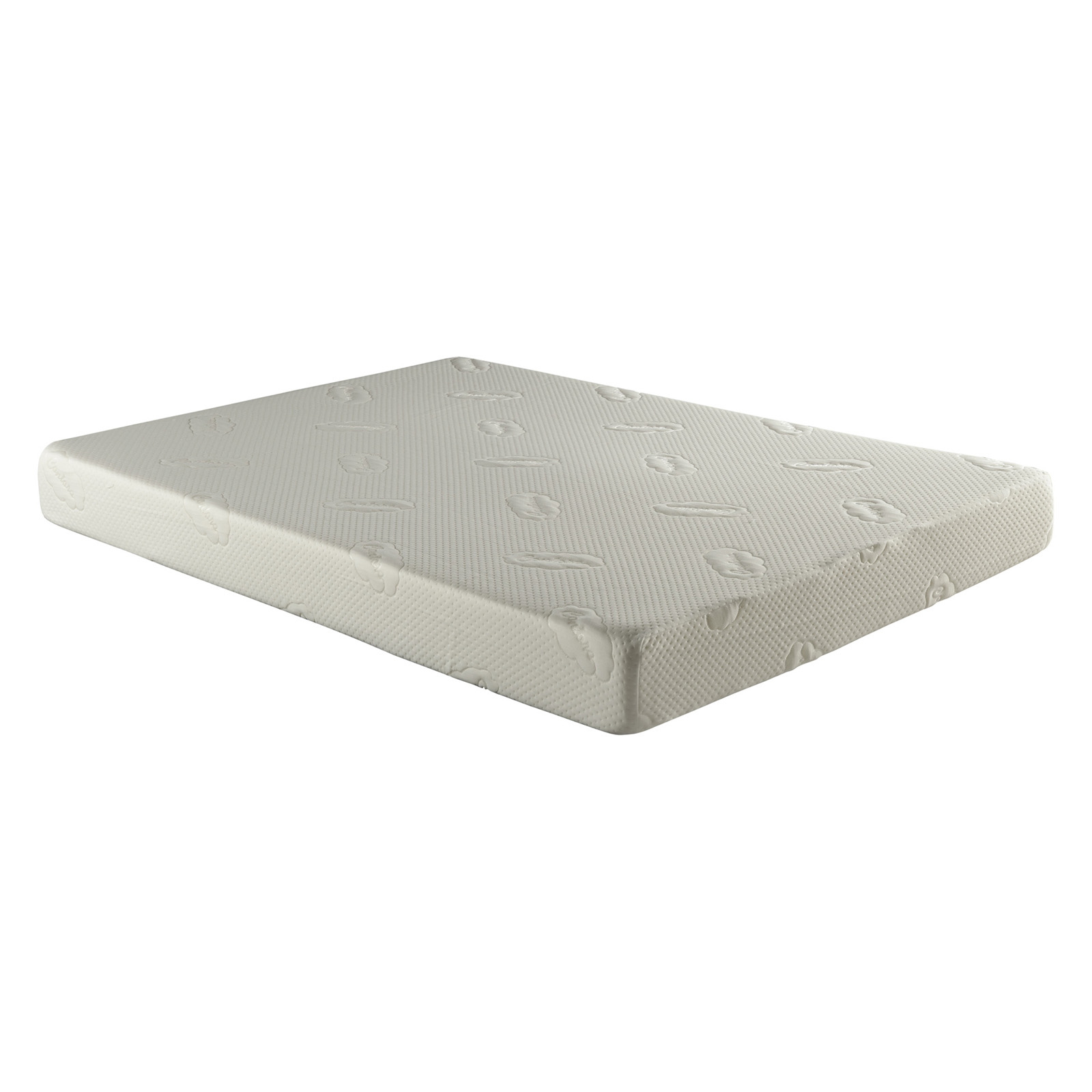 Atlantic Furniture Siesta 7 In Memory Foam Mattress With Woven Mattress Foundation Bed