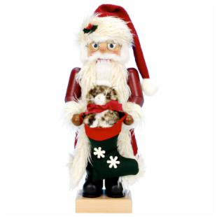 Ulbricht 2008 Limited Edition Santa with Cat Nutcracker