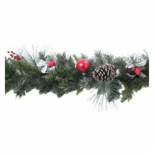 6 ft. Holly Leaf Christmas Garland