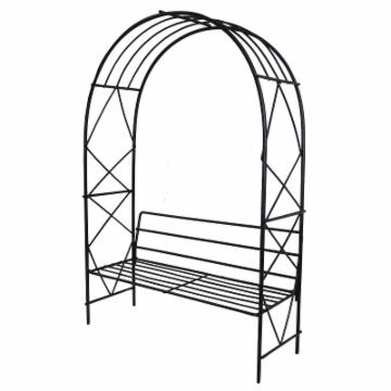Austram Fairy Garden Milan Arbor with Bench L - Black