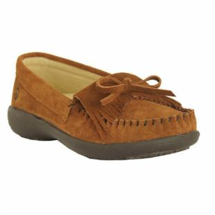 Womens Donna Peace Moccasins by Old Friend - Brown