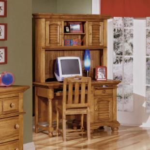 Cottage Traditions Desk and Chair Set with Optional Hutch