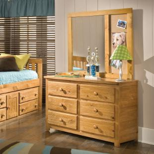 Crossroads 6 Drawer Double Dresser