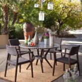  Sunqueen All-Weather Wicker Mosaic Patio Dining Set - Seats 4