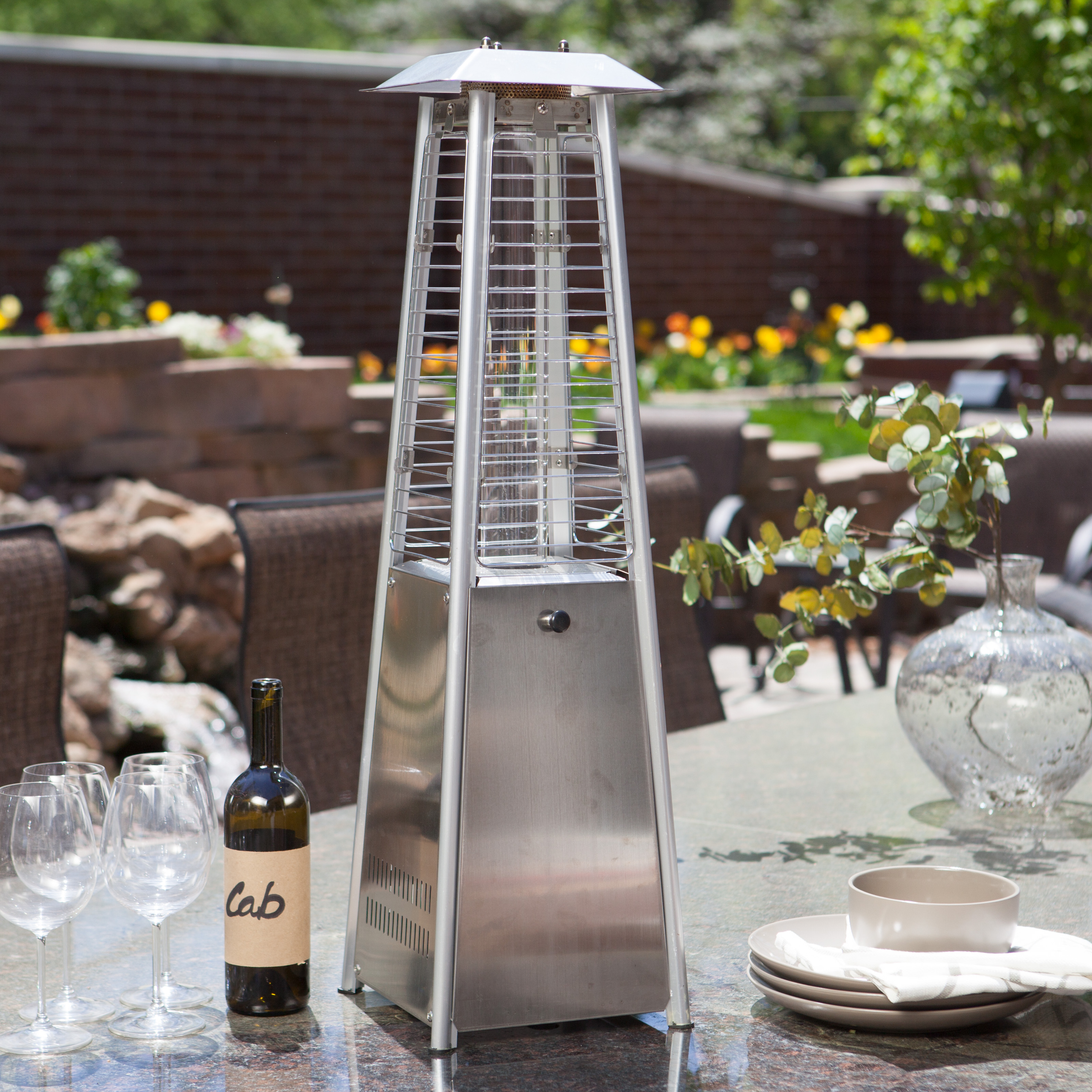 AZ Patio Heater Stainless Steel Glass Tube Tabletop Heater