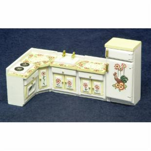 Town Square Miniatures Hand Painted Kitchen Set