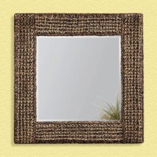 Woven Hemp Square Mirror - 36W x 36H in.