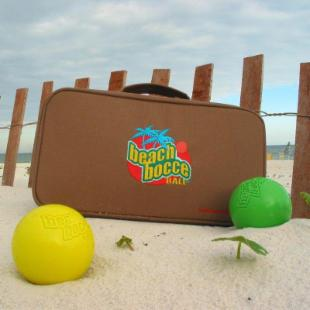 Beach Bocce Ball Set with Carrying Case - 74mm
