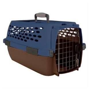 Kennel Cab Fashion - Blue/Brown - Small