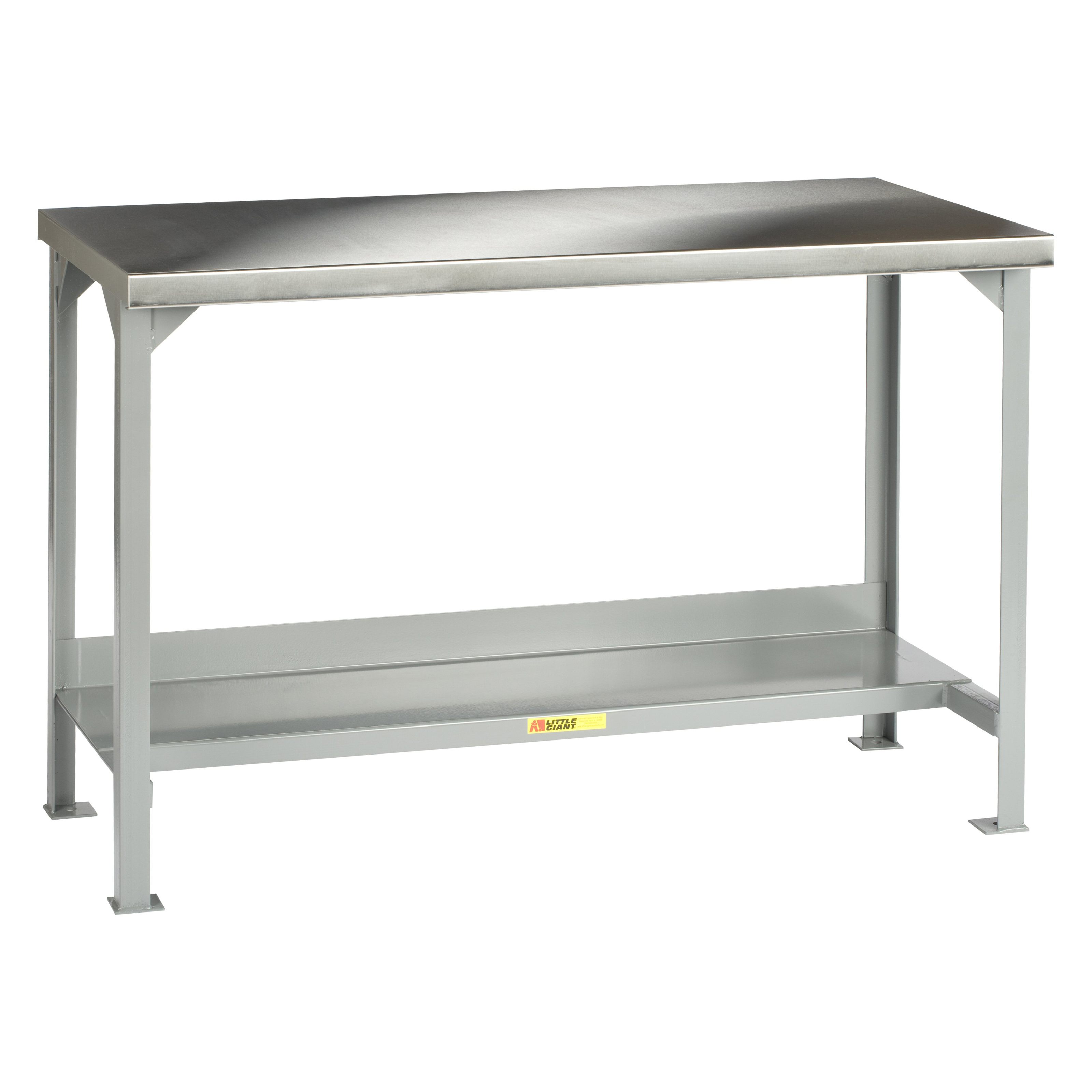little giant welded steel workbench with stainless steel top workbenches at hayneedle. Black Bedroom Furniture Sets. Home Design Ideas