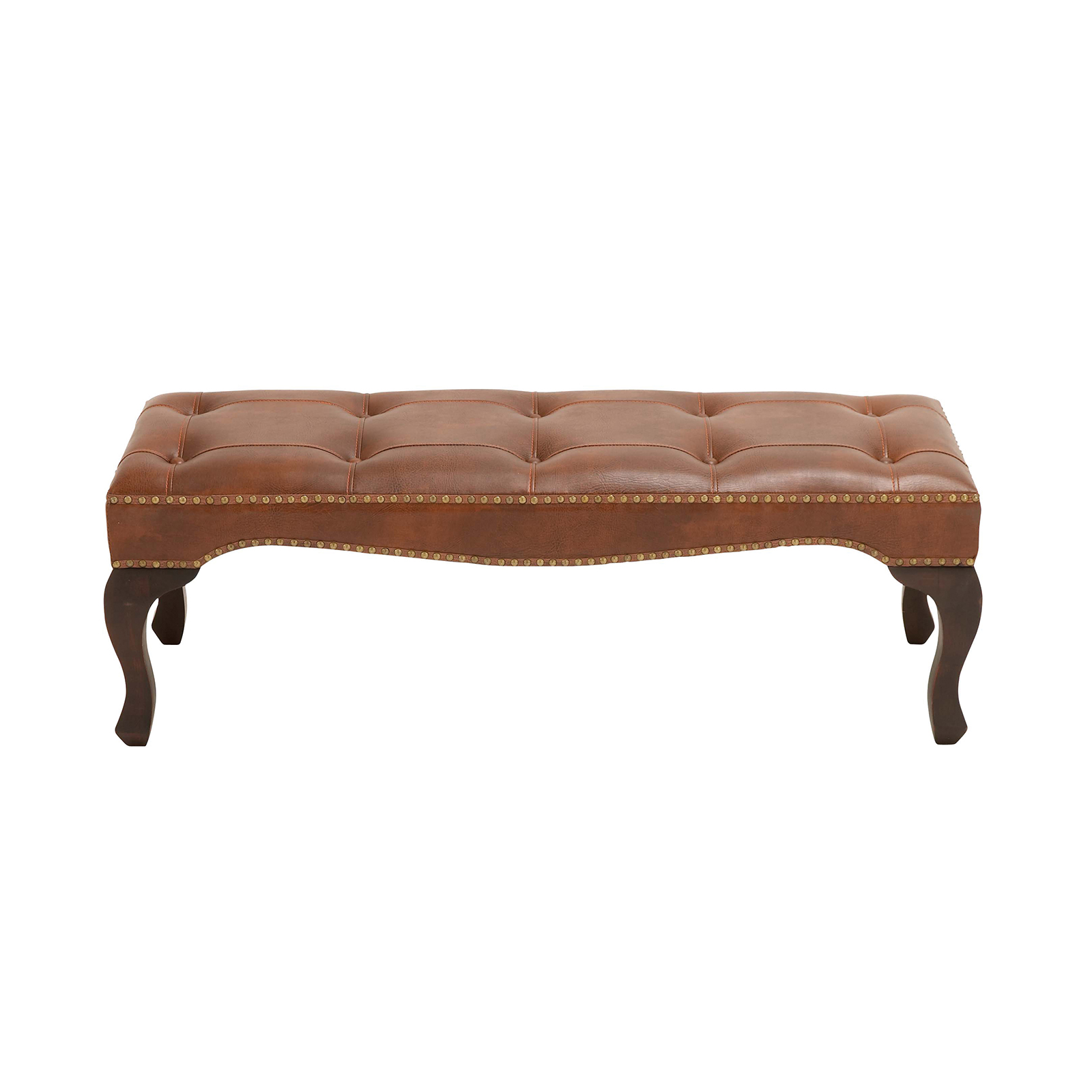 Bedroom benches with storage - Wood Leather Bench With Timeless Design Bedroom Benches At Hayneedle