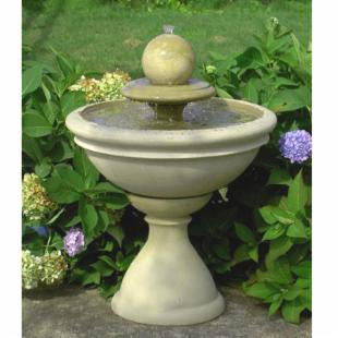 Bradley Tiered Garden Fountain with Sphere