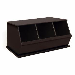 Badger Basket Three Bin Storage Cubby - Espresso