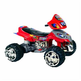 Mini Motos Red 12 Volt Battery Operated ATV Sport Riding Toy