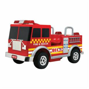 Kalee Red 12 Volt Battery Operated Fire Truck Riding Toy