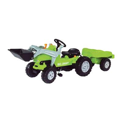  Big Jimmy Loader Tractor with Trailer Pedal Riding Toy