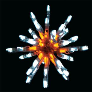 24 in. Blue &amp; White LED Starburst Display - 100 Bulbs