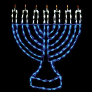 32 in. Outdoor LED Menorah Display - 150 Bulbs