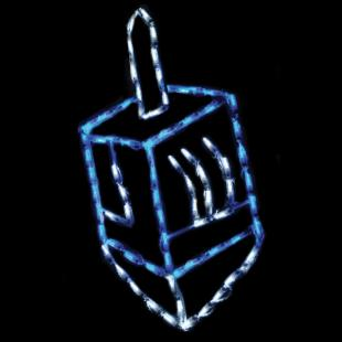 32 in. LED Dreidel Lighted Display - 50 Bulbs