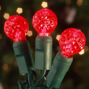 Commercial 70 ct. Red Raspberry LED Light Set with Green Wire 6 in. Spacing (Case)