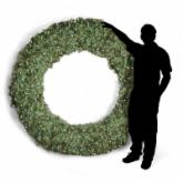  84 in. Pre-lit Christmas Wreath