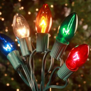Brite Ideas 25 Bulb C9 Incandescent Transparent Light Set - Multi-Color