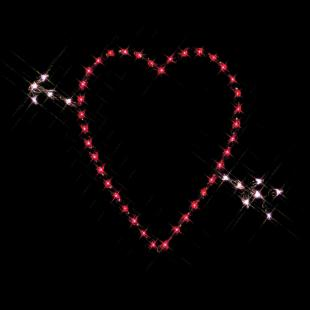 33 in. Outdoor LED Red Heart Lighted Display - 50 Bulbs